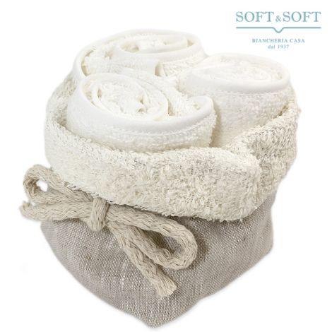 LINO Hand Towel Set 3 pcs + Linen Sack