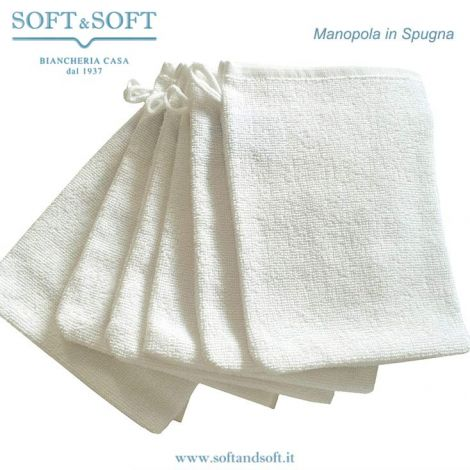 Hand Towel Set pure cotton 6 pieces white cm 16x22