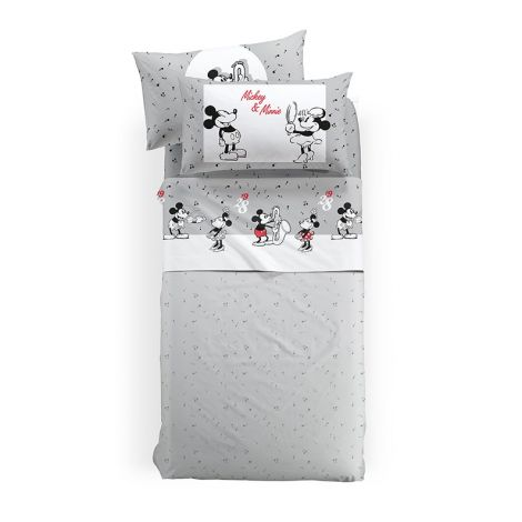 MICKEY FUMETTO Sheet Set for SINGLE Bed Disney by CALEFFI