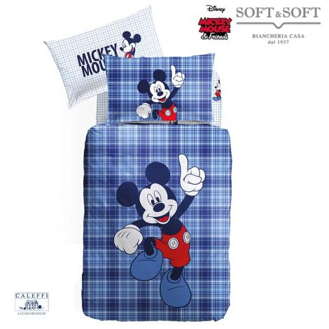 MICKEY MOUSE Duvet Cover Set for single bed Disney by CALEFFI