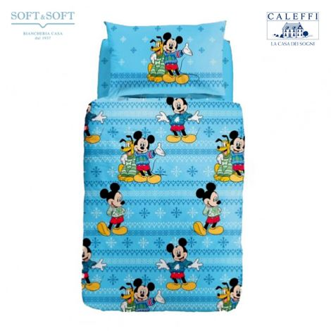 MICKEY E PLUTO Duvet Cover Set THREE-QUARTER Disney CALEFFI