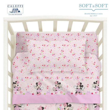 BABY MINNIE FAIRY Sheet Set for Cots Disney by CALEFFI