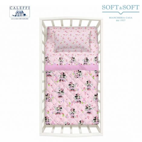 MINNIE FAIRY spring quilted bedcover for Cots Disney CALEFFI