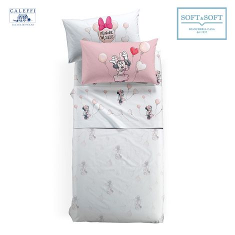 MINNIE Love Flanel Sheet set for single bed Disney Caleffi