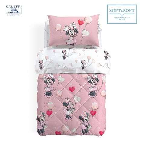 MINNIE LOVE Quilt for Single Bed Disney by CALEFFI