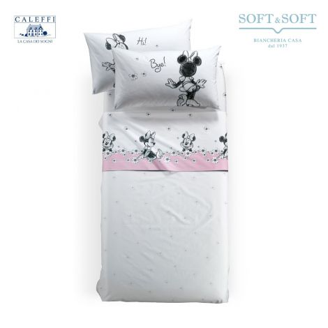 MINNIE CIAO Sheet Set for SINGLE Bed Disney by CALEFFI