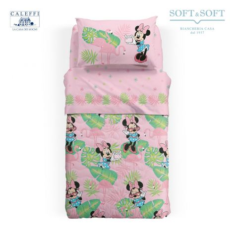 MINNIE PALM SPRING Quilted Bedcover THREE-QUARTER Bed Size by Disney CALEFFI