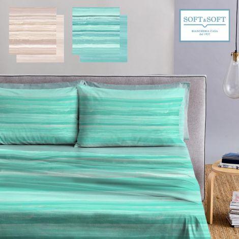 MYKONOS sheet set three-quater bed size pure cotton