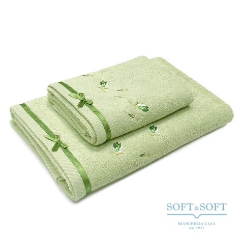 NAXOS Embroided Bathtowel Set 1+1 Pure Cotton