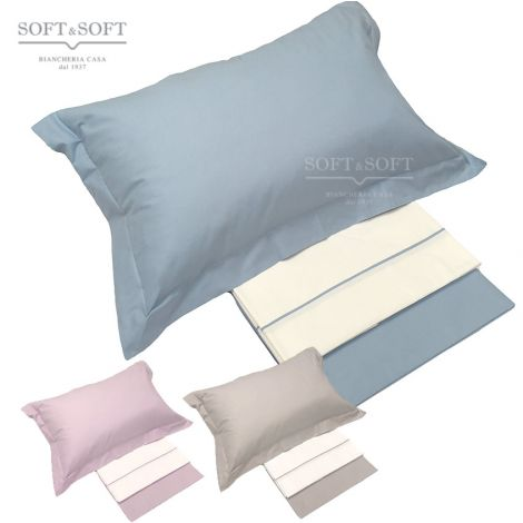 NUVOLA full sheet set French bed cm 140 with 2 pillowcases