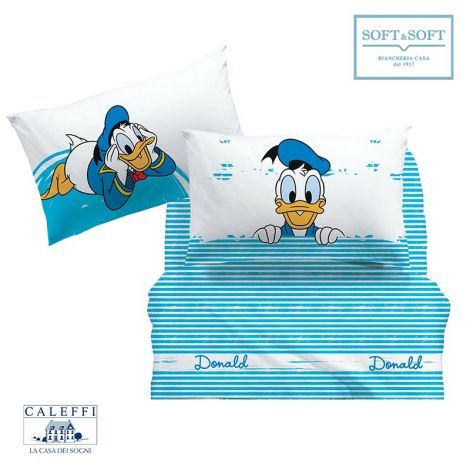 PAPERINO Sheet Set for SINGLE Bed Disney by CALEFFI