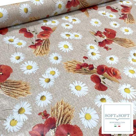 Lemon laminated fabric for tablecloth cm 120H (sales per meter)