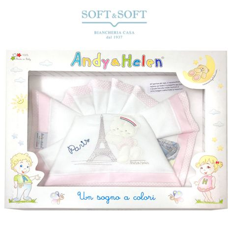 Sheet Set for crib/pram Andy & Helen Paris