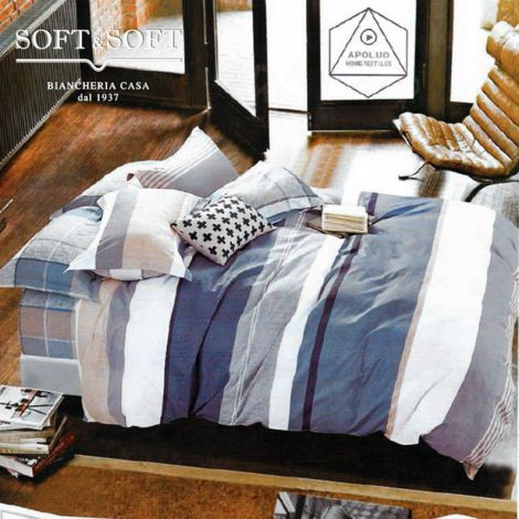 RODI ART.22 Duvet Cover Parure in pure cotton percale SINGLE bed