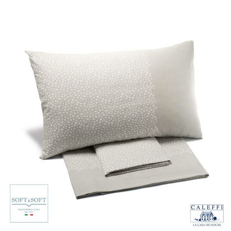 PERLE Cotton Sheet Set cm 140 cm bed size CALEFFI