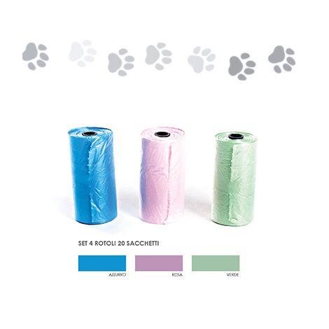 Rotoli igienici pet sacchetti toilette (96 rotoli da 20 sacchetti - € 0.015 a sacchetto)