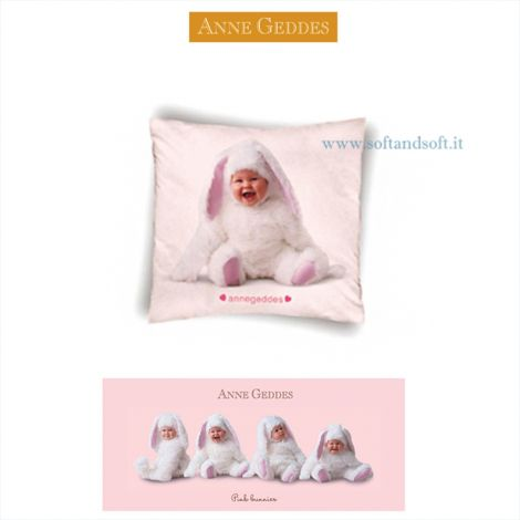 PINK BUNNIES Cushion cm 40x40 ANNE GEDDES