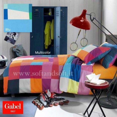 copripiumino a fantasia a scacchettoni colorati letto piazza e mezza