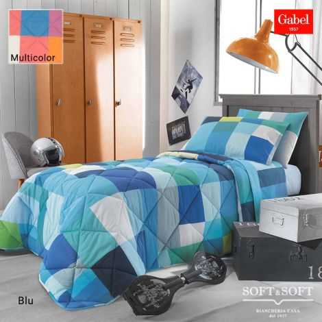 POLICROMIA Quilt for SINGLE Bed in cotton fabric by GABEL