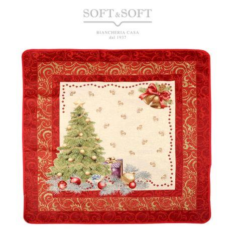 PRESTIGE ALBERO Christmas Centrepiece Gobelin Fabric cm 100x100