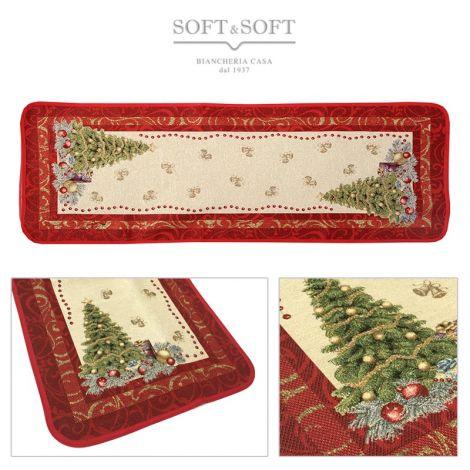 PRESTIGE ALBERO Christmas Centrepiece Gobelin Fabric cm 50x140