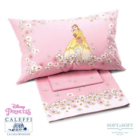 PRINCESS FIORI Sheet set for three-quarter bed Disney by CALEFFI