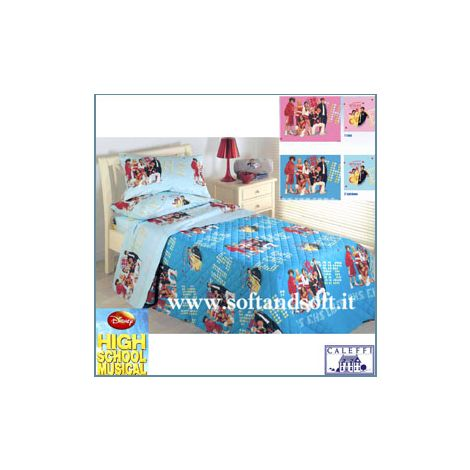 HIGH SCHOOL MUSICAL - Quilted bedcover for single beds - Caleffi