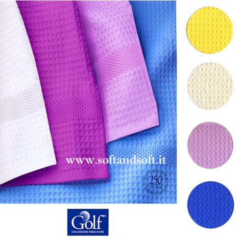 GOLF Plain-coloured waffle Towel set by Gabel