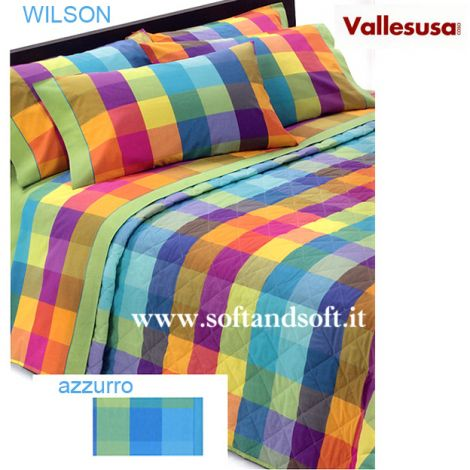 WILSON Spring quilted bedcover for double bed Vallesusa