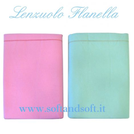 OSLO Flanel sheet for single bed cm 150x295