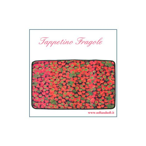 Fruit tappetino cm 50x75 Fragole Tappeto