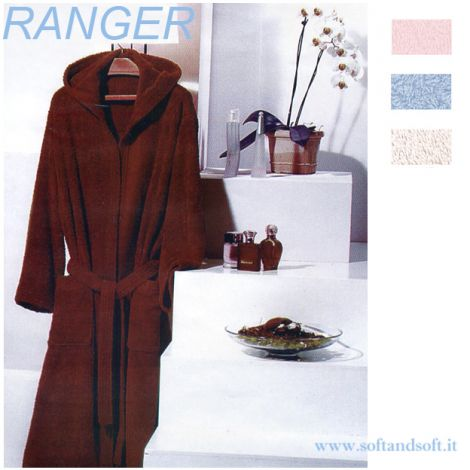 RANGER Hooded Bathrobe with Pockets M