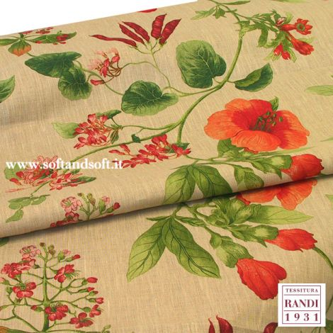 GARDEN Pure Linen fabric for tablecloath cm 150 - Tessitura Ran