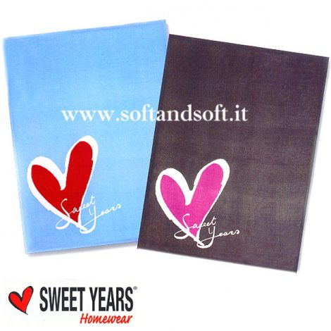 SWEET YEARS Icon Plaid Pile 130x160 cm AZZURRO CIELO