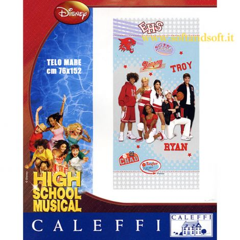 HIGH SCHOOL MUSICAL Dinsney Caleffi Telo mare cm 76x152