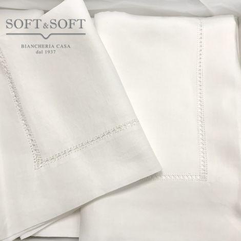 Double bed sheets Pure Linen embroidery Gigliuccio parure 08455