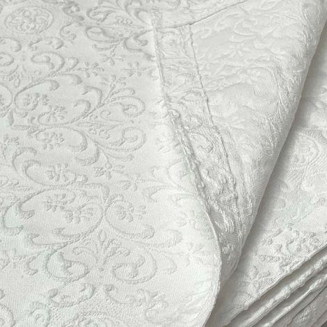 RAMAGE copriletto misura MATRIMONIALE in tessuto jacquard cm 260x260-Bianco