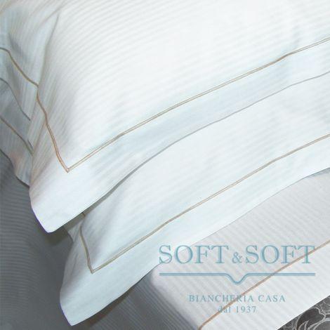 RIGATINO Pillowcase cm 60x90 Beige Embroidery