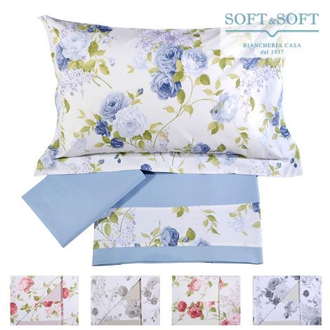 ROSY Sheet Set for DOUBLE Bed Flower Flounce