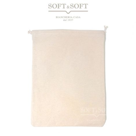 Bread or flour bag pure cotton with coulisse cm 21x34