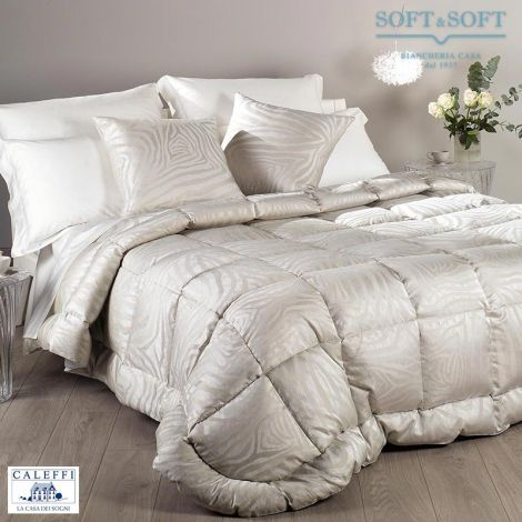 SERENA quilt double bed size 270X260 down jacquard satin CALEFFI