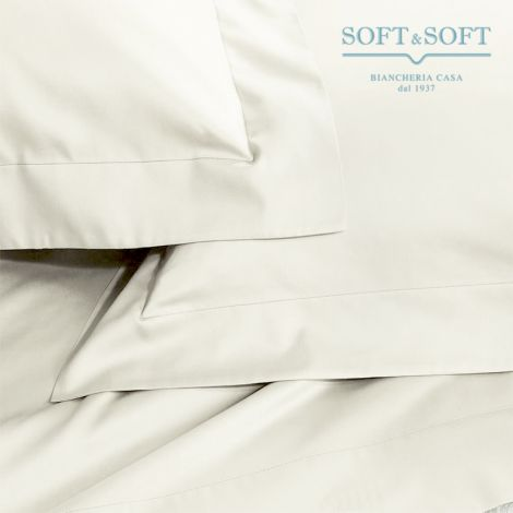 SOFT MAXI Sheet Set KING SIZE Bed cm 200x200+35 Pure Cotton Canvas CREAM WHITE