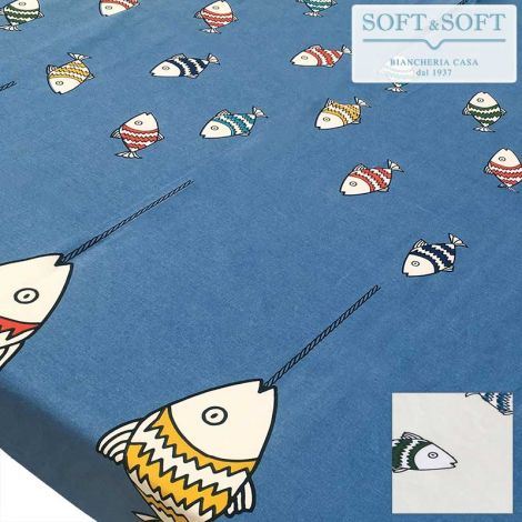 SID Printed Tablecloth for 12 People Table 140x240 Pure Cotton