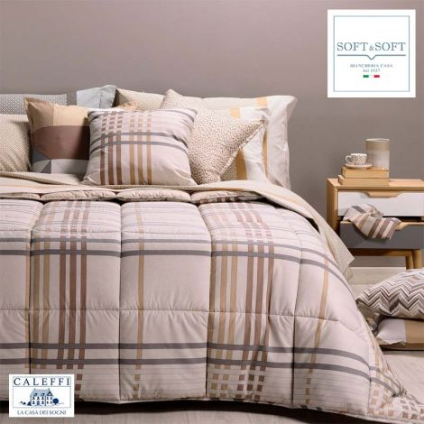 SIENNA winter quilt for SINGLE bed cotton fibre CALEFFI Amber