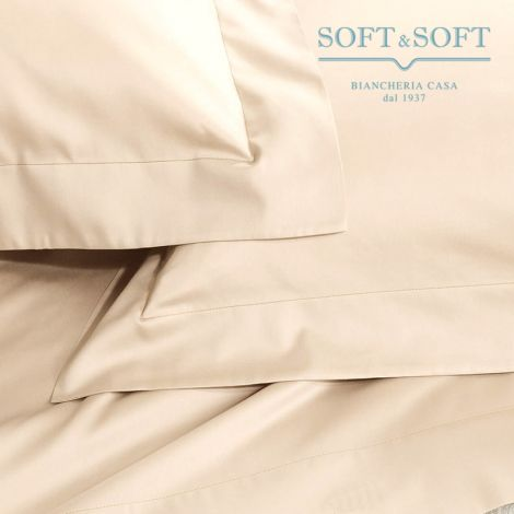 SOFT MAXI Sheet Set KING SIZE Bed cm 200x200+35 Pure Cotton Canvas CREAM