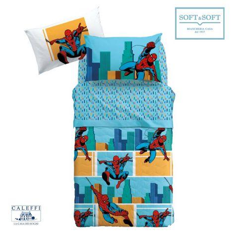 SPIDER-MAN AMERICA bedspread SINGLE BED size 165x265 Marvel CALEFFI