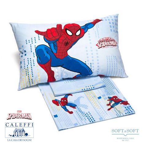 SPIDER-MAN SKY Sheets for Three-quarter Bed Marvel by CALEFFI