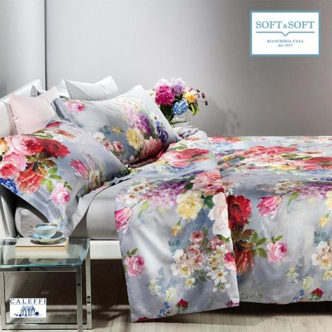 SPLENDID Duvet cover set for DOUBLE Bed in Pure Cotton Satin by CALEFFI