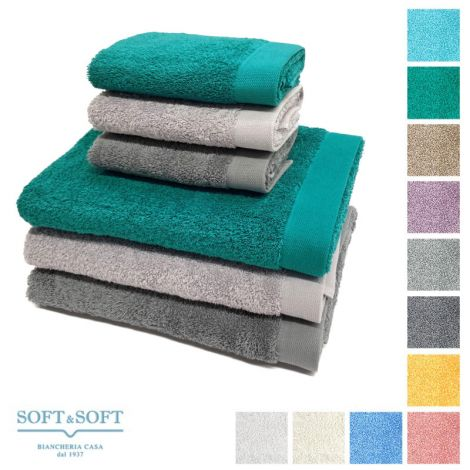 STAR 600 set 2 asciugamani viso e ospite 600 gr/m²