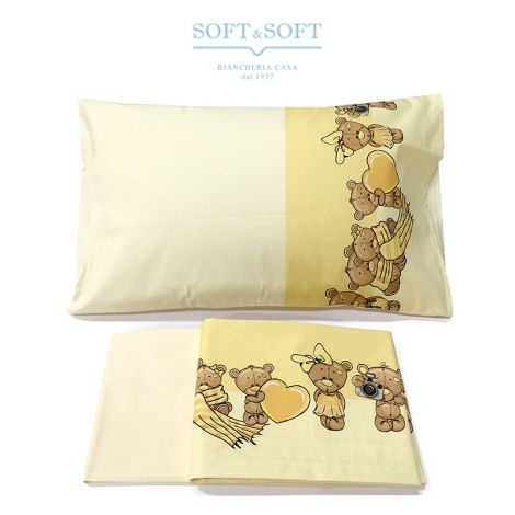 STELLA 16 Sheet Set for Cot Yellow Bears